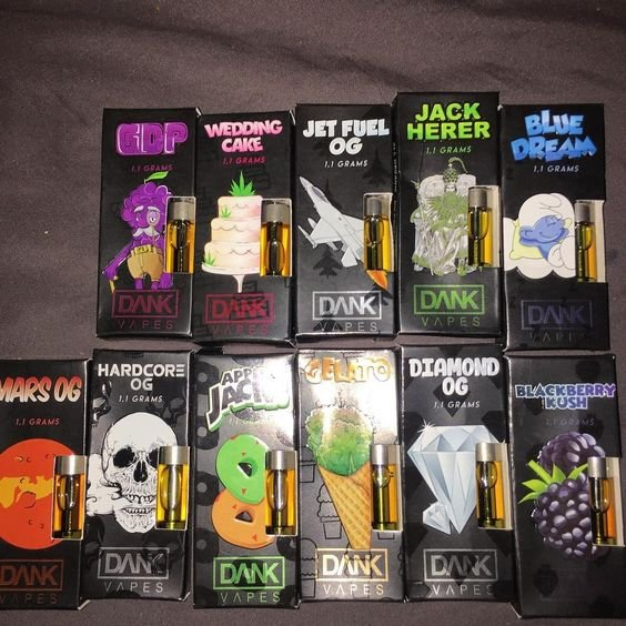 Dank Vapes Full Gram Cartridges