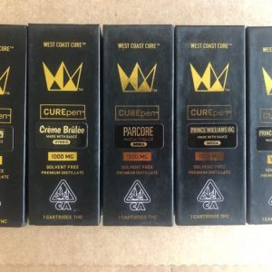 West Coast Cure Pens – 1000mg Cartridge